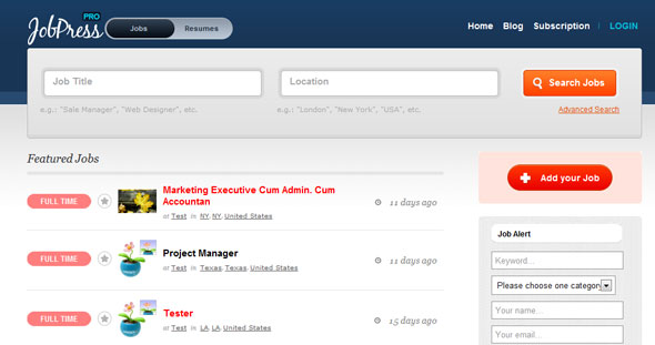 Jobpress v2.0 & Jobpress Pro v2.0 Wordpress Theme Free Download by DailyWp.