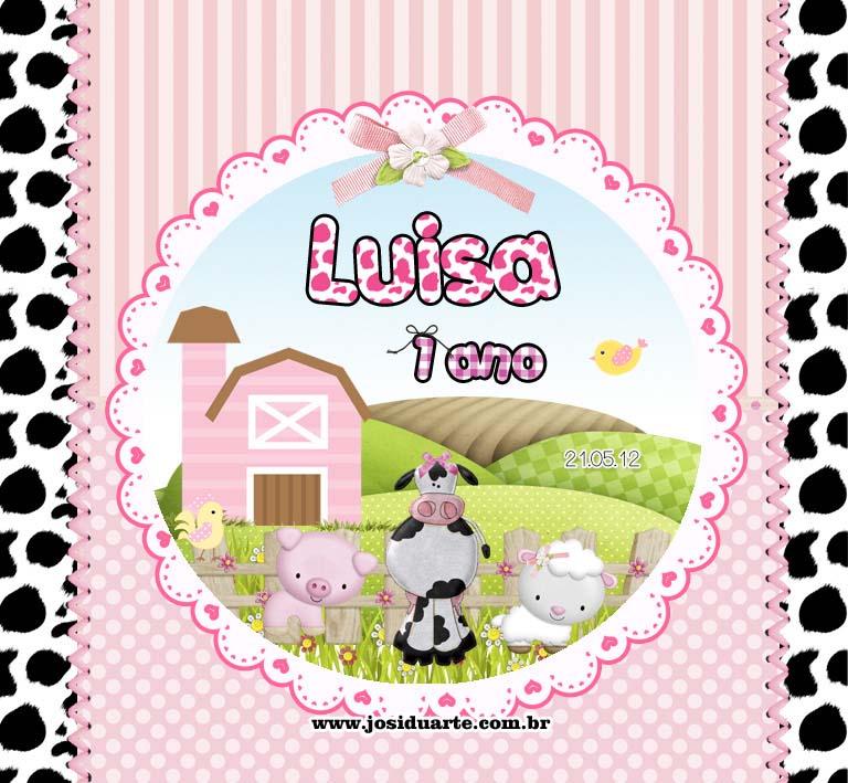 Suficiente Ateliê Josi Duarte: Rótulo para baton tema fazendinha rosa LB35