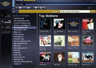 Slacker Radio - aplicación de música