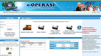 Sistem Pengoperasian Data e-OPERASI