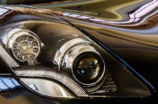 Fisker sportcar headlights