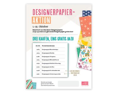 Designerpapieraktion