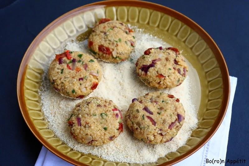 Przepis na wegetariańskie kotleciki z kaszą kuskus i fasolą