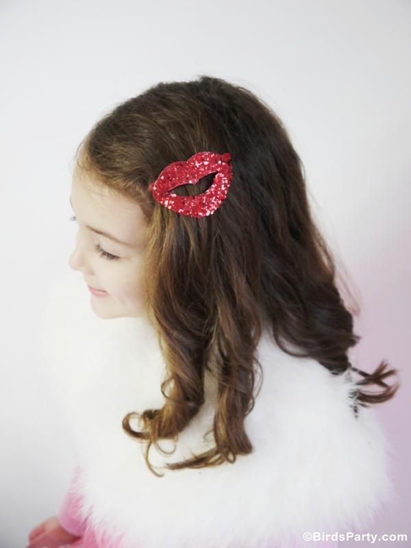 DIY Valentineu0027s Day Kiss Lips Hair Accessory   BirdsParty.com