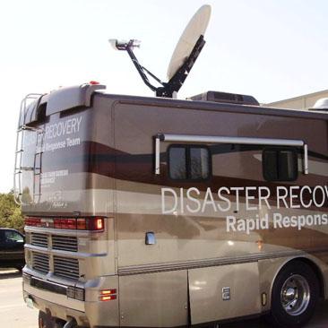 futur camion de reportage équipé de l 'antenne sat vers internet KA