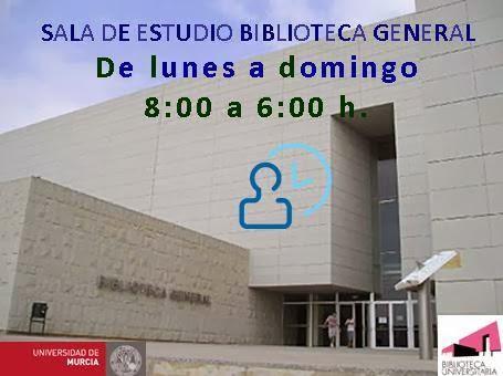 Sala de Estudio Biblioteca General - horario