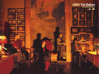 """Capa do disco """"The Visitors"""", lançado pelo Abba em 1981."""