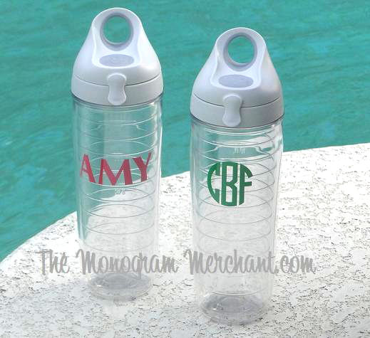 win set of 2 monogrammed tervis water bottles  ends march 16