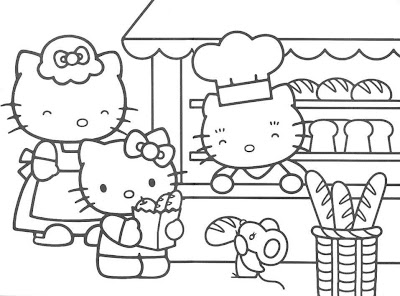 Hello Kitty para colorir
