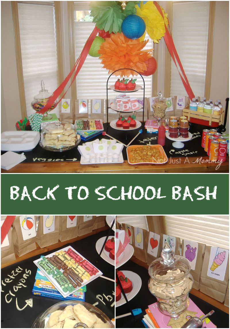 Lots of great ideas for a Back To School Bash