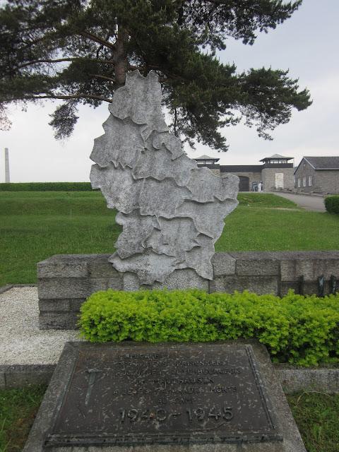 Luxembourg's Monument, Mauthausen Concentration Camp, Vienna / SouvenirChronicles.blogspot.com