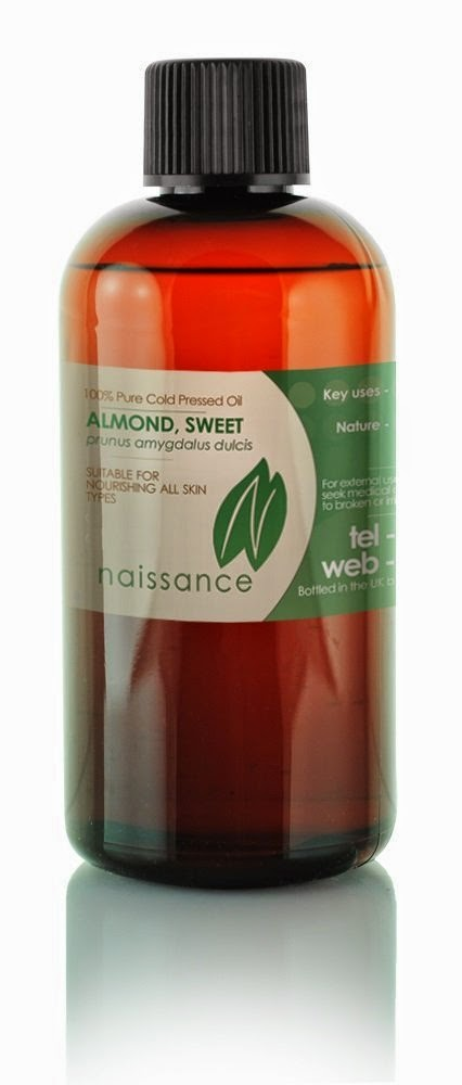 Sweet almond oil from naissance, the oil cleansing method, acne and blocked pores.