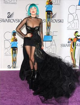 Gaga 2011 CFDA Fashion Icon Of The Year Photo by WireImage