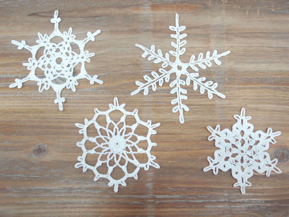 Crochet Snowflake Patterns Free Easy : Katrinshine: Crochet snowflakes