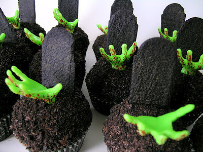 Zombie Halloween Cupcakes - printable recipe