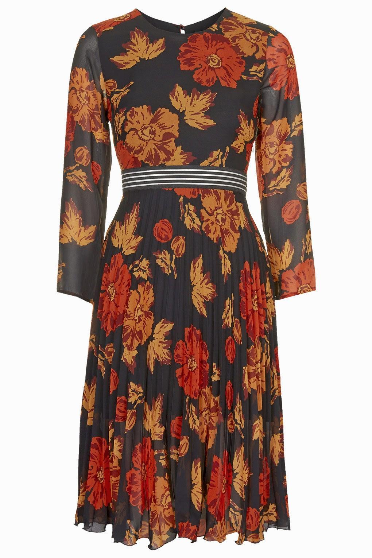 topshop black floral dress