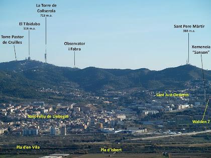Panoràmica del Baix Llobregat des de les primeres cases de la Urbanització Cesalpina