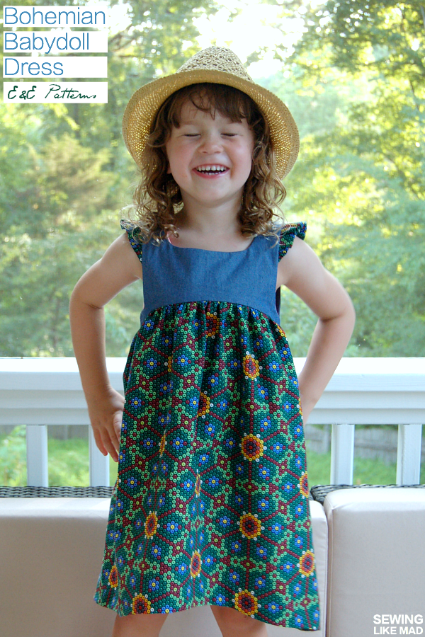 Sewing Like Mad: The Bohemian Babydoll Dress by E&E Patterns ...