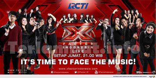 Daftar Lagu X Factor Indonesia 22 Februari 2013