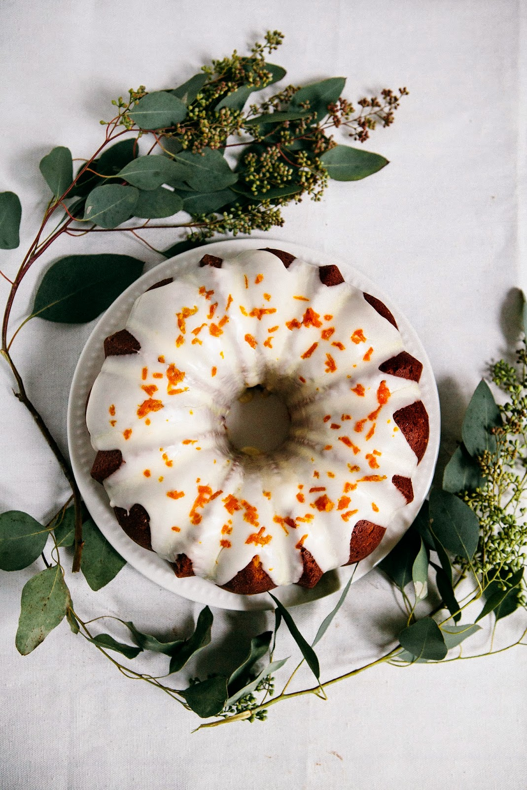 Tangerine Sour Cream Pound Cake