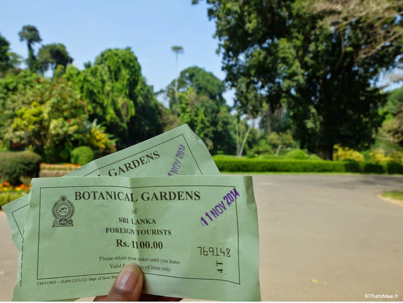 Jardin Botanique britannique Kandy, Sri-Lanka quartier universités