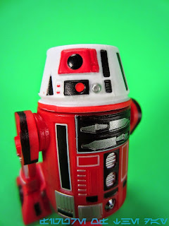 R6-Series Astromech Droid White, Black, and Red