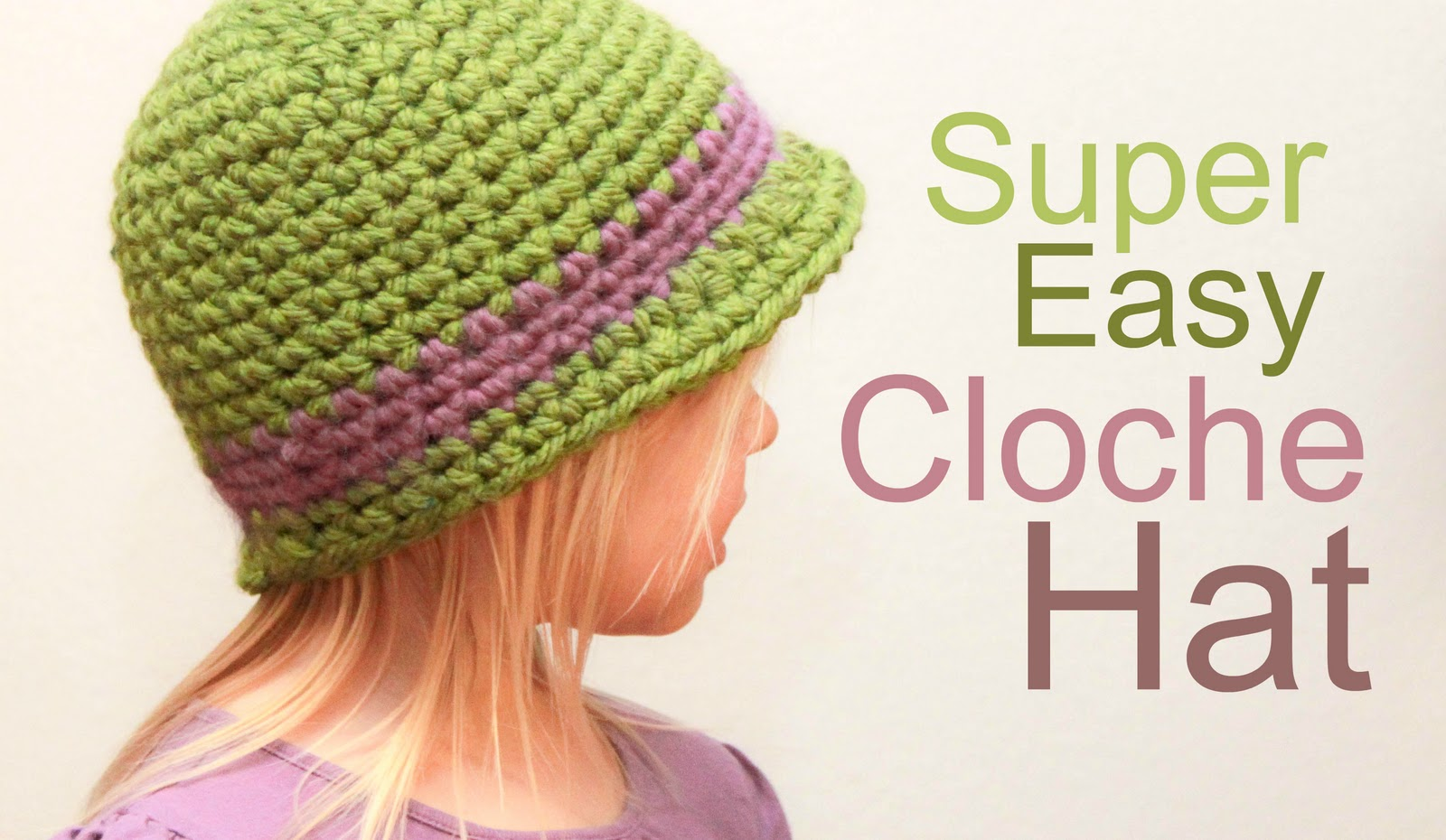 Crochet For Free: Super Easy Cloche Hat with Brim (Size Baby to Adult)