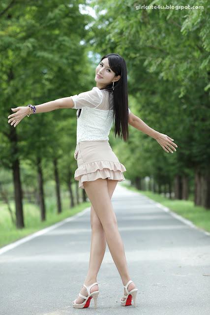 3 Cha Sun Hwa-Ruffle Mini Dress-very cute asian girl-girlcute4u.blogspot.com