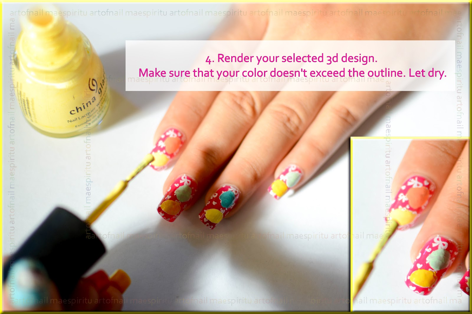 The Fascinating Bow nails tutorial Image