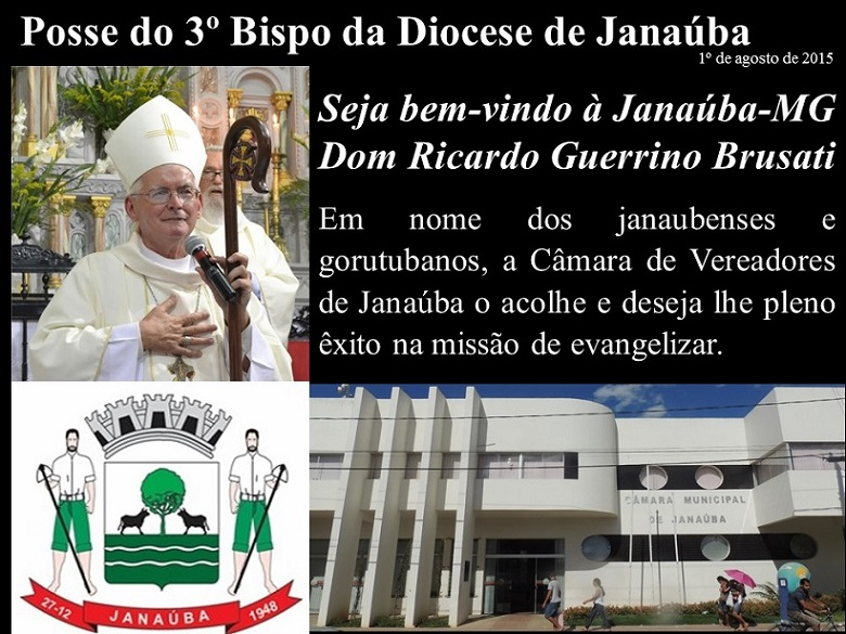 DIOCESE DE JANAÚBA TERÁ O SEU 3º BISPO A PARTIR DE 1º DE AGOSTO DE 2015