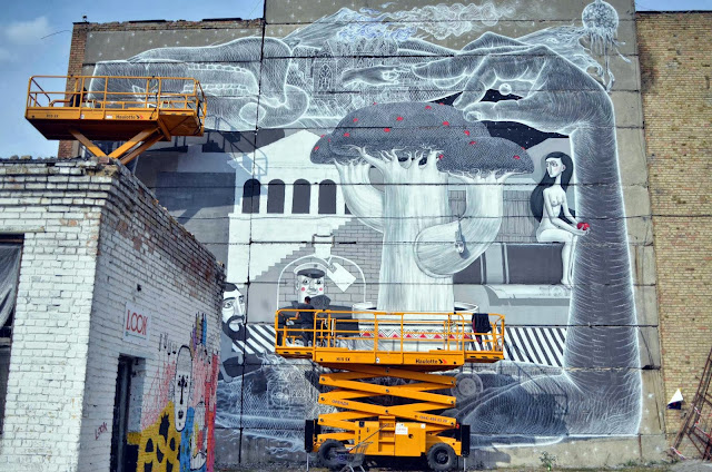 Street Art Collaboration By Roti And Aleksey Kislow on the streets of Kiev, Ukraine. 3