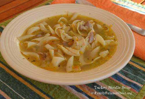 Turkey Noodle Soup {Leftover Turkey Recipe}