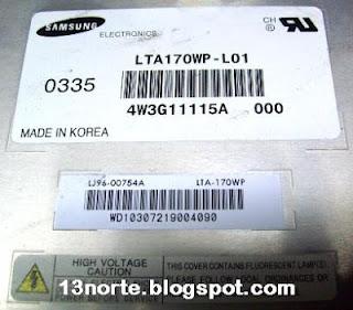 Panel LCD LTA170WO-L01