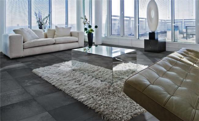 Interiores y 3d imitaci n de pizarra con suelo cer mico - Limpiar suelo pizarra ...