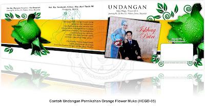 Undangan Pernikahan Orange Flower (HCGD-05)