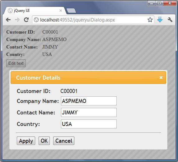 free asp net source code tutorial how to show modal dialog box