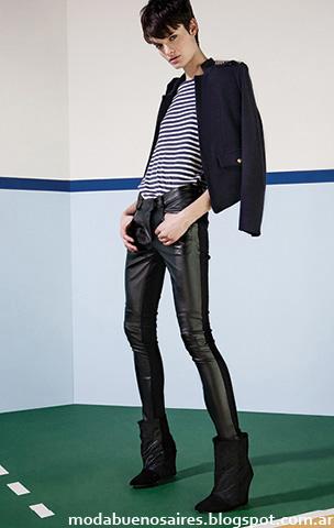 Moda otoño invierno 2014 María Cher pantalones de cuero.