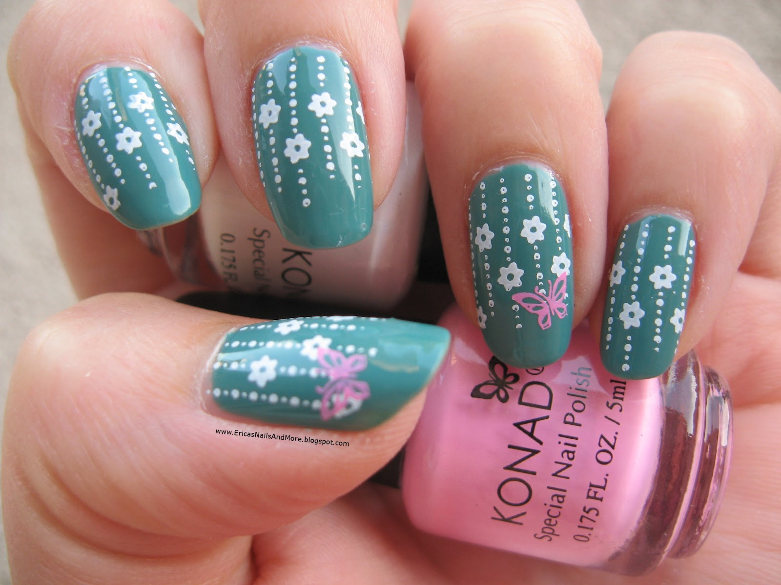 Erica's Nails and More: NOTD: Daphne Stamping Nail Art
