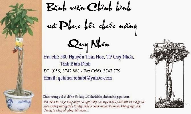 BỆNH VIỆN CHỈNH HÌNH VÀ PHỤC HỒI CHỨC NĂNG QUY NHƠN - ORTHOPAEDIC AND REHABILITATION HOSPITAL