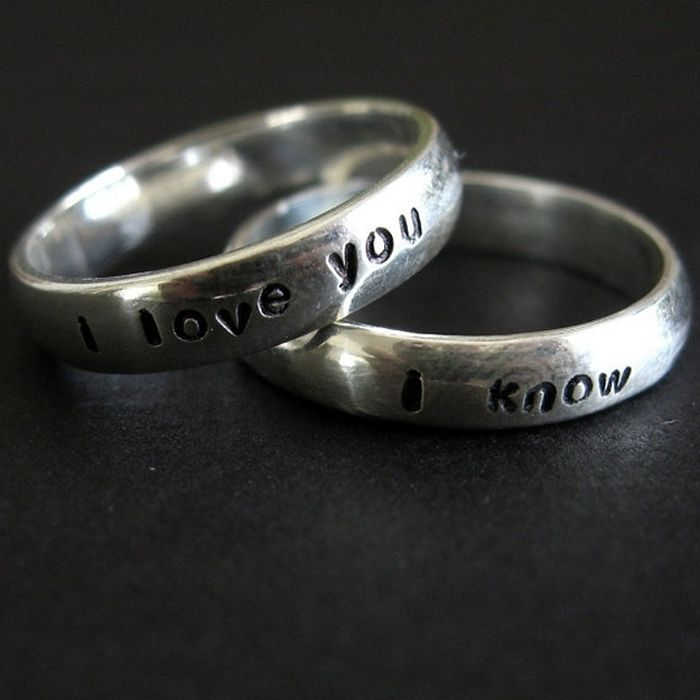 Geeky wedding rings