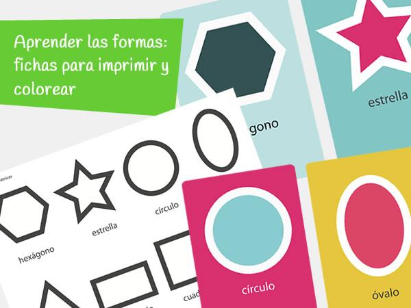 fichas de formas geométricas de infantil para imprimir y colorear