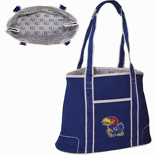Kansas Jayhawks NCAA Canvas Zipper Tote Bag