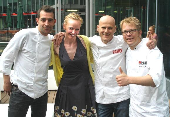 Renaade mit den Küchenchefs: Ralf Zacherl, Martin Baudrexel und Mario Kotaska
