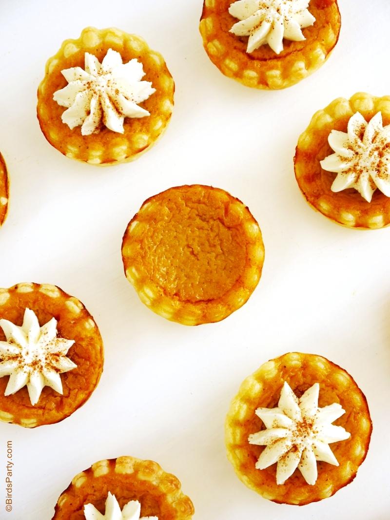 Recette: Tartelettes à la Citrouille sans Sucre Ajouté