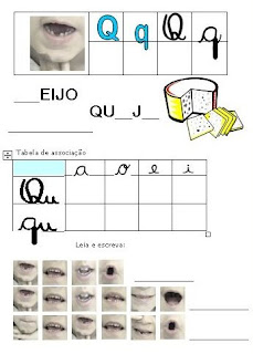 Atividades Alfabetização - Método Fônico Q