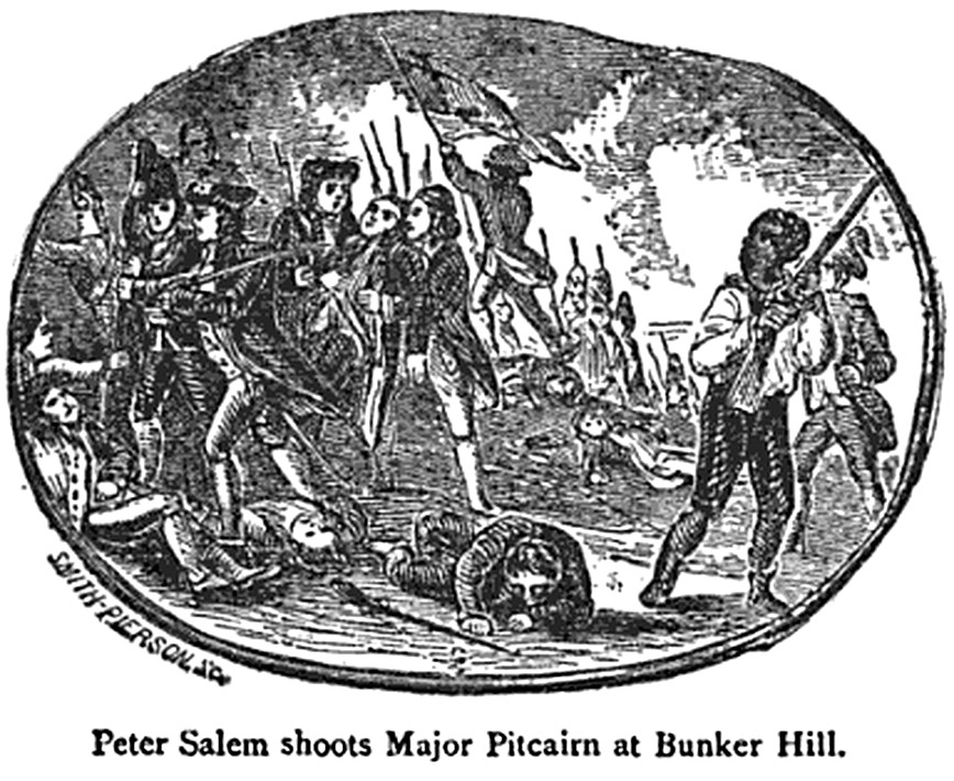 Peter Salem Shoots Major Pitcairn at Bunker Hill