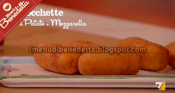Crocchette di Patate, Mozzarella e Acciughe di Benedetta Parodi