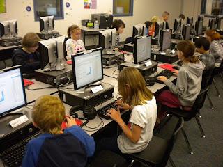 Kids blogging.
