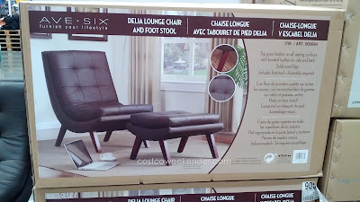 Ave Six Delia Leather Lounge Chair features leather and foot stool