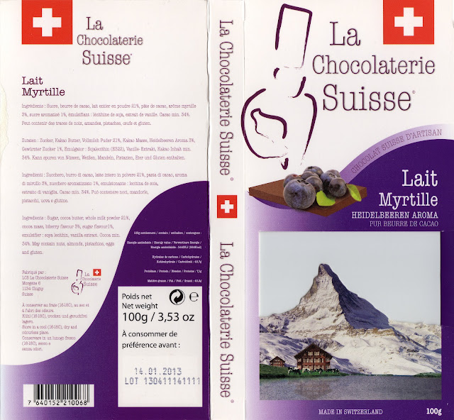 tablette de chocolat lait gourmand la chocolaterie suisse lait myrtille